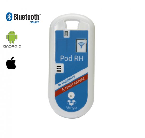 אוגר נתוני טמפרטורה ולחות Bluetooth